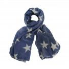 Krasilnikoff - Schal dunkelblaue Sterne