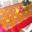 Tischdecke Lisa Corti rechteckig tiger Flower Orange
