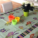 Tischdecke Lisa Corti rechteckig Japanese Green Organdy