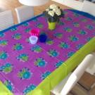 Tischdecke Lisa Corti rechteckig tiger Flower light Purple